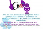 Invitación: Eva en Radio Universidad