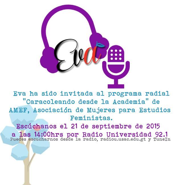 Invitación: Eva en Radio Universidad