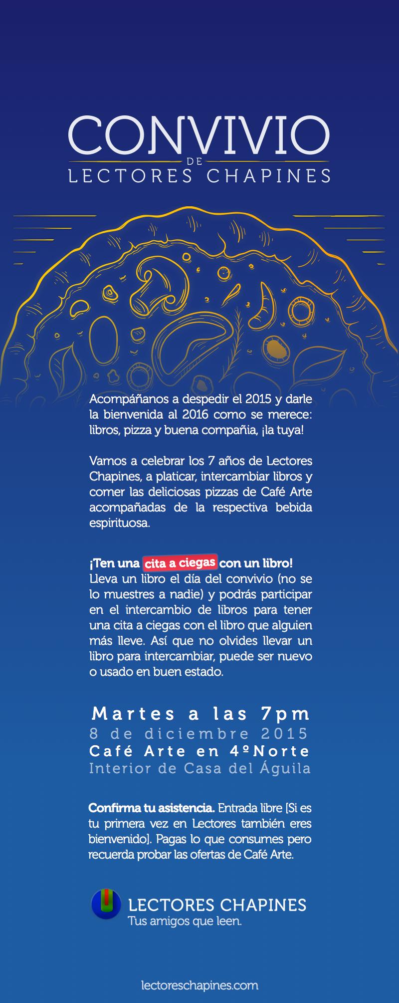Invitación a Convivio de Lectores Chapines 2015